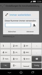 Sony Xperia Z2 - Anrufe - Rufumleitungen setzen und löschen - Schritt 7