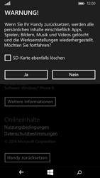 Microsoft Lumia 640 - Fehlerbehebung - Handy zurücksetzen - Schritt 8