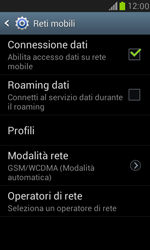 Samsung Galaxy S III Mini - Internet e roaming dati - Disattivazione del roaming dati - Fase 7