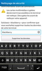 BlackBerry Z10 - Téléphone mobile - Réinitialisation de la configuration d