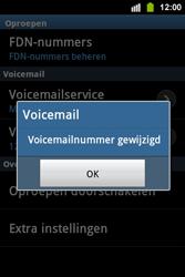 Samsung S5830i Galaxy Ace i - Voicemail - handmatig instellen - Stap 8