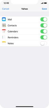 Apple iPhone X - E-mail - Manual configuration (yahoo) - Step 8