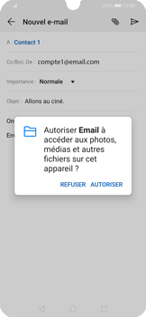 Huawei P Smart 2020 - E-mails - Envoyer un e-mail - Étape 11