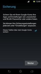 Sony Xperia T - Apps - Konto anlegen und einrichten - Schritt 13