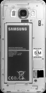 Samsung J510 Galaxy J5 (2016) - SIM-Karte - Einlegen - Schritt 6