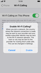 Apple iPhone SE - iOS 14 - WiFi - Enable WiFi Calling - Step 7