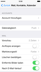 Apple iPhone 5c - E-Mail - Konto einrichten - 0 / 0