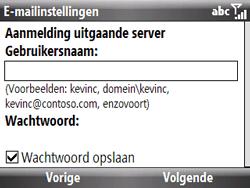 HTC S521 Snap - E-mail - handmatig instellen - Stap 12