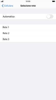 Apple iPhone 7 Plus - iOS 13 - Rete - Selezione manuale della rete - Fase 6