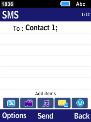 Samsung B550H Xcover 550 - MMS - Sending pictures - Step 7