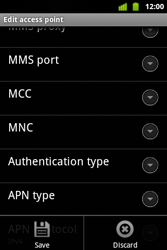 Alcatel OT-983 - MMS - Manual configuration - Step 14