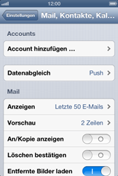 Apple iPhone 4 - E-Mail - Manuelle Konfiguration - Schritt 4