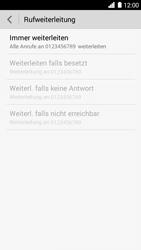 Huawei Ascend G6 - Anrufe - Rufumleitungen setzen und löschen - 8 / 9