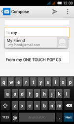 Alcatel OT-4033X Pop C3 - E-mail - Sending emails - Step 6