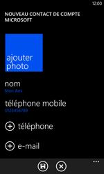 Nokia Lumia 1020 - Contact, Appels, SMS/MMS - Ajouter un contact - Étape 11