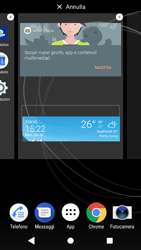 Sony Xperia XZ1 - Operazioni iniziali - Installazione di widget e applicazioni nella schermata iniziale - Fase 6