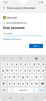 Samsung Galaxy A20e - E-mail - Manual configuration (outlook) - Step 8
