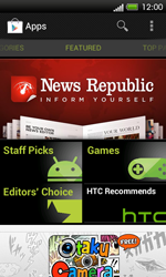 HTC One SV - Applications - Setting up the application store - Step 17