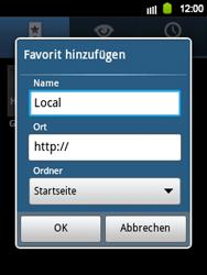 Samsung Galaxy Y - Internet und Datenroaming - Verwenden des Internets - Schritt 9