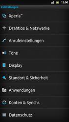 Sony Xperia S - WLAN - Manuelle Konfiguration - Schritt 4