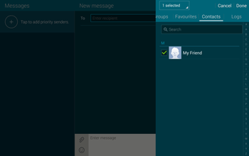 Samsung T805 Galaxy Tab S - MMS - Sending pictures - Step 7