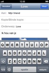 Apple iPhone 4 (iOS 6) - e-mail - hoe te versturen - stap 12
