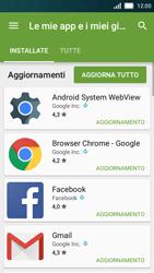 Huawei Y5 - Applicazioni - Come verificare la disponibilità di aggiornamenti per l