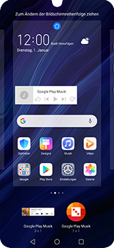 Huawei P30 Pro - Startanleitung - Installieren von Widgets und Apps auf der Startseite - Schritt 7