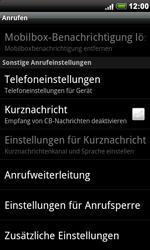 HTC Desire - Anrufe - Rufumleitungen setzen und löschen - 1 / 1