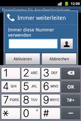 Samsung S5690 Galaxy Xcover - Anrufe - Rufumleitungen setzen und löschen - Schritt 7