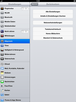 Apple iPad 4 - Fehlerbehebung - Handy zurücksetzen - 7 / 10