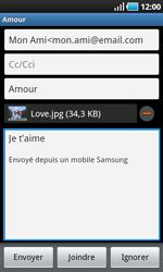 Samsung I9000 Galaxy S - E-mail - envoyer un e-mail - Étape 10