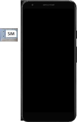 Google Pixel 3a - Premiers pas - Insérer la carte SIM - Étape 4