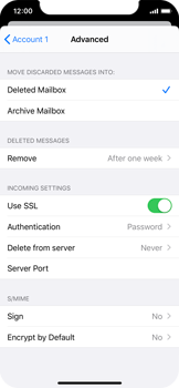 Apple iPhone 11 Pro - E-mail - manual configuration - Step 22