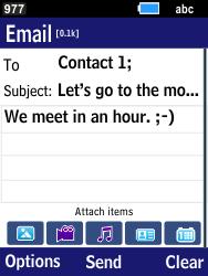 Samsung B550H Xcover 550 - E-mail - Sending emails - Step 10