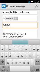 Alcatel OT-7041X Pop C7 - E-mail - Envoi d