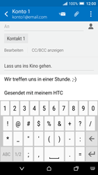 HTC One A9 - E-Mail - E-Mail versenden - 0 / 0
