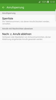 Samsung Galaxy S6 edge+ - Anrufe - Anrufe blockieren - 7 / 12