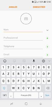 Samsung Galaxy A6 - Contact, Appels, SMS/MMS - Ajouter un contact - Étape 8