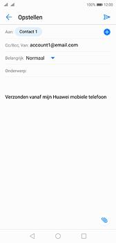 Huawei P20 - e-mail - hoe te versturen - stap 7