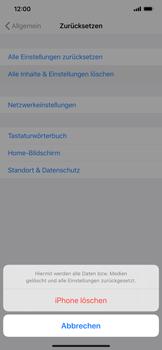 Apple iPhone XS Max - iOS 13 - Gerät - Zurücksetzen auf die Werkseinstellungen - Schritt 6