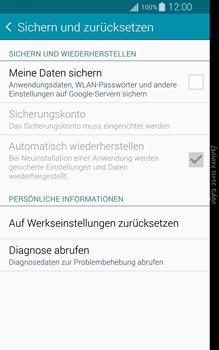 Samsung Galaxy Note Edge - Gerät - Zurücksetzen auf die Werkseinstellungen - Schritt 5