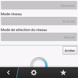 BlackBerry Q10 - Réseau - Sélection manuelle du réseau - Étape 8