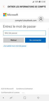Samsung Galaxy S8 - Android Oreo - E-mail - Configuration manuelle (outlook) - Étape 8