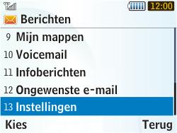 Samsung S3350 Chat 335 - SMS - handmatig instellen - Stap 4