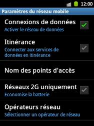 Samsung Galaxy Pocket - Internet et roaming de données - Désactivation du roaming de données - Étape 7