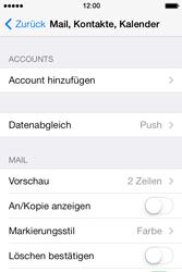 Apple iPhone 4 S mit iOS 7 - E-Mail - Konto einrichten - Schritt 4