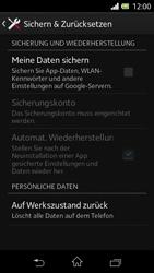 Sony Xperia L - Fehlerbehebung - Handy zurücksetzen - 7 / 11