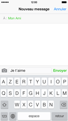 Apple iPhone 5 - Contact, Appels, SMS/MMS - Envoyer un SMS - Étape 8