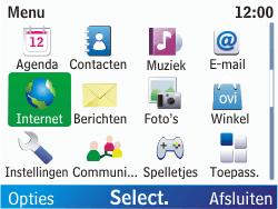 Nokia C3-00 - Internet - Hoe te internetten - Stap 2